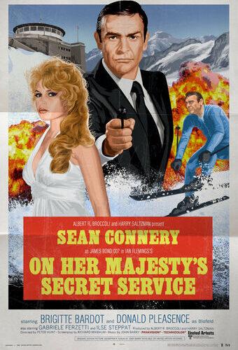 On her Matjestys Secret Service med Sean Connery på affischen