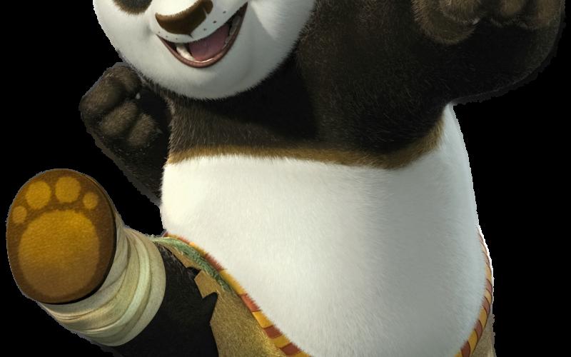 Huvudpersonen i Kung Fu Panda som Oliver såg med sin son Astor