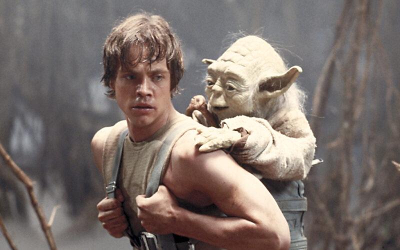 Yoda tränar Luke i Star Wars: The Empire Strikes Back