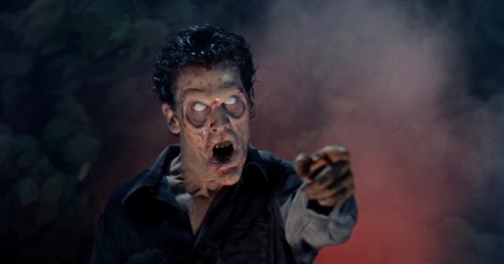 Bild på besatt Bruce Cambell från Evil Dead II (1987)